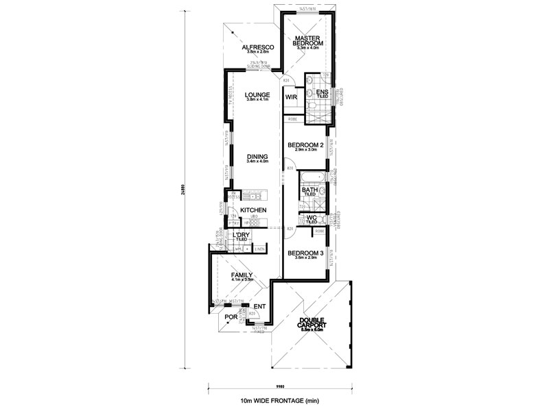 10m frontage homes plans - Home plan