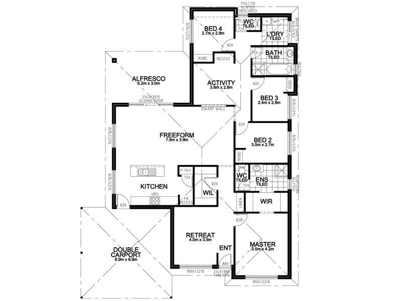 Attractive Two Story Home in addition Bathroom Ideas additionally 653906 Beautiful 4 Bedroom 3 5 Bath house plan with views of the backyard together with Blueprints Narrow Master Suite further Singleton 1. on all european bathroom shower